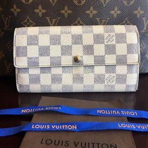 Authentic Louis Vuitton Sarah Damier Azur Wallet